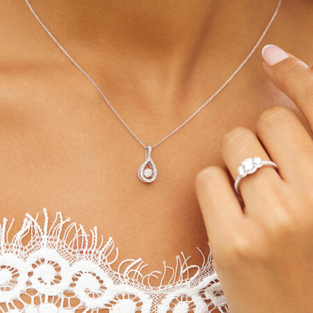 Everlight Pendant with 0.20 Carat TW of Diamonds in Sterling Silver