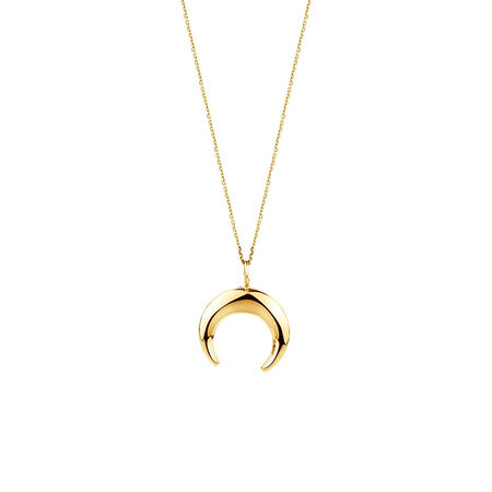 Crescent Pendant In 10ct Yellow Gold
