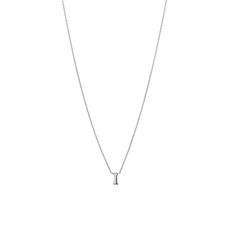 'I' Initial Necklace in Sterling Silver