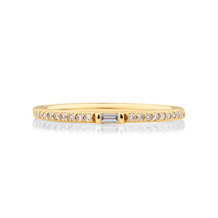 Stacker Ring with 0.12 Carat TW of Diamonds in 10ct Yellow Gold