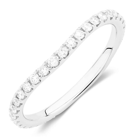 Sir Michael Hill Designer GrandArpeggio Wedding Band with 0.40 Carat TW of Diamonds in 14ct White Gold