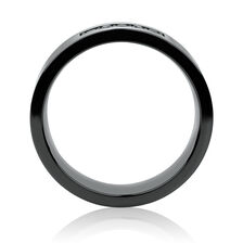 6mm Ring with Black Diamonds in Black Titanium