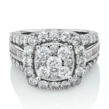 Online Exclusive - Ring with 3 Carat TW of Diamonds in 14ct White Gold