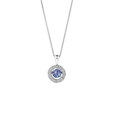 Online Exclusive - Everlight Pendant with Tanzanite & Diamonds in Sterling Silver