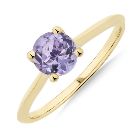 Amethyst Ring in 10ct Yellow Gold