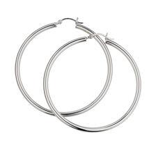 50mm Hoop Earrings in Sterling Silver