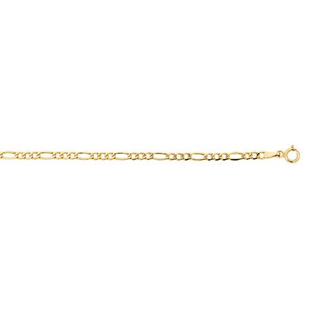 Figaro Bracelet in 10ct Yellow Gold
