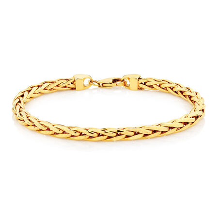 "Online Exclusive - 19cm (7.5"") Rope Bracelet in 10ct Yellow Gold"