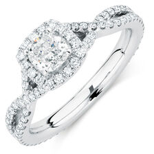 Sir Michael Hill Designer GrandAdagio Engagement Ring with 1.18 Carat TW of Diamonds in 14ct White Gold