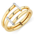 Wrap Ring with 10ct Yellow & White Gold