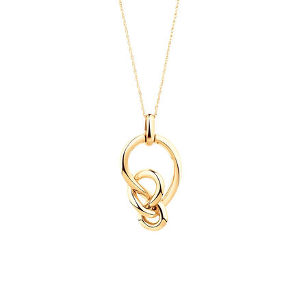 Medium Knots Pendant in 10ct Yellow Gold