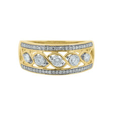 Fancy Ring with 0.50 Carat TW of Diamonds in 10ct Yellow Gold