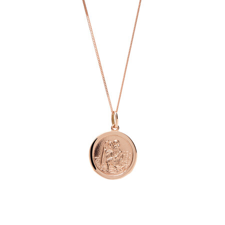 St Christopher Pendant in 10ct Rose Gold