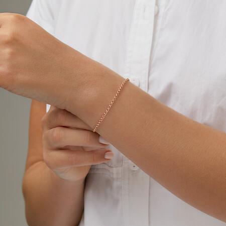 """21cm (8"""") Hollow Belcher Bracelet in 10ct Rose Gold"""