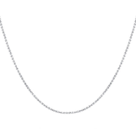"50cm (20"") Rope Chain in Sterling Silver"