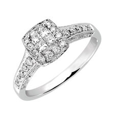 Engagement Ring with 0.40 Carat TW of Diamonds in 14ct White Gold