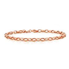 """19cm (7.5"""") Belcher Bracelet in 10ct Rose Gold"""