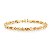 "17cm (6.5"") Rope Bracelet in 10ct Yellow Gold"