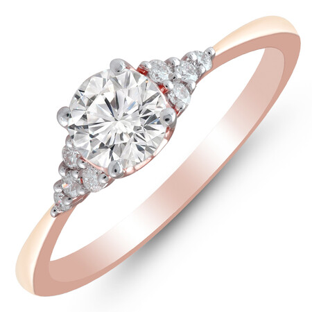 Ring with 1/2 Carat TW of Diamonds in 10ct Rose & White Gold