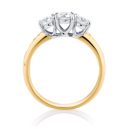 Online Exclusive - Engagement Ring with 1 Carat TW of Diamonds in 18ct Yellow & White Gold
