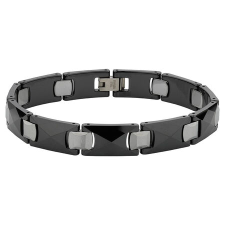 Online Exclusive - Men's Bracelet in Ceramic & Tungsten