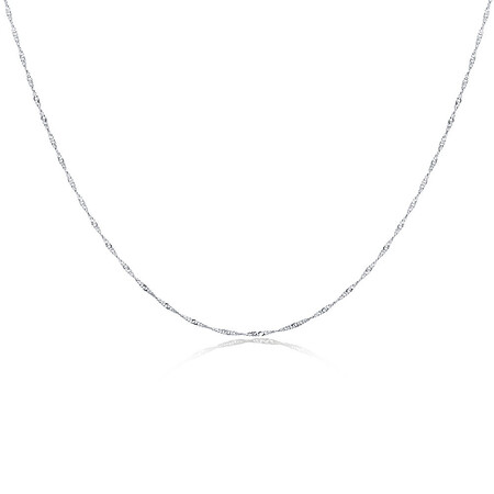 """40cm (16"""") Singapore Chain in Sterling Silver"""