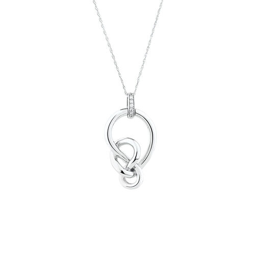 Limited Edition Medium Knots Pendant With Diamonds in Sterling Silver