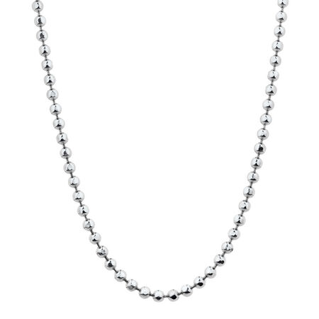 """80cm (32"""") Faceted Ball Chain in Sterling Silver"""
