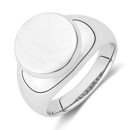 Round Signet Ring in Stainless Steel