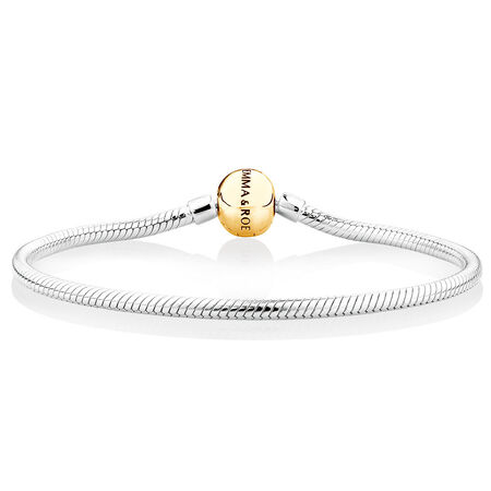 Charm Bracelet in 10ct Yellow Gold & Sterling Silver
