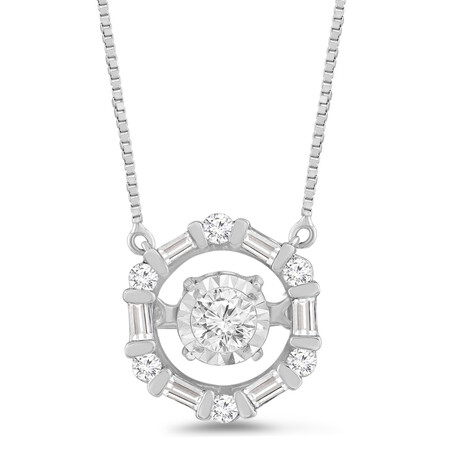 Everlight Pendant with 0.25 Carat TW of Diamonds in 10ct White Gold