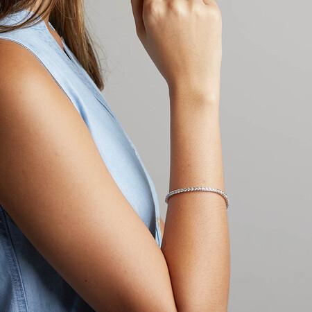 Tennis Bracelet with 4 Carat TW of Diamonds in 10ct White Gold