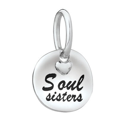 """Soul Sisters"" Mini Pendant in Sterling Silver"