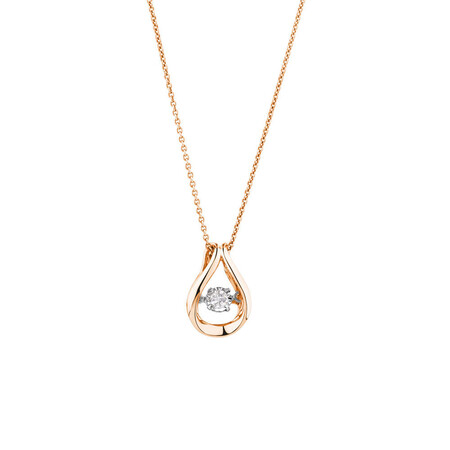 Everlight Pendant with a 0.30 Carat TW Diamond in 10ct Rose Gold