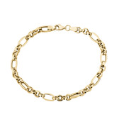 """19cm (7.5"""") Hollow Bracelet in 10ct Yellow Gold"""