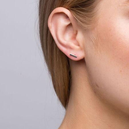 Geometric Stud Earrings in Sterling Silver