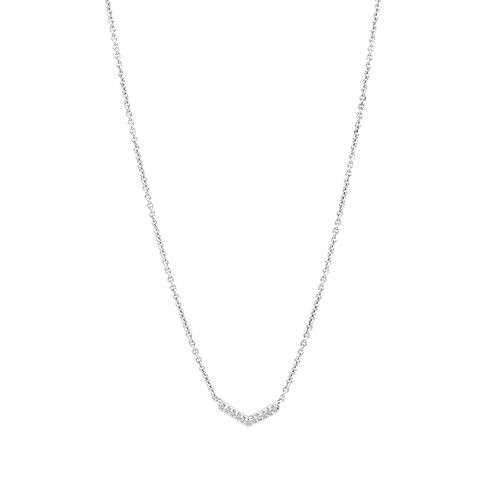 Arrow Necklace with Diamonds in Sterling Silver