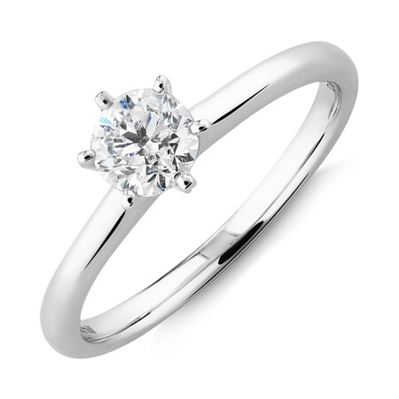 Michael Hill Solitaire Engagement Ring with a 0.50 Carat TW Diamond with the De Beers Code of Origin in Platinum