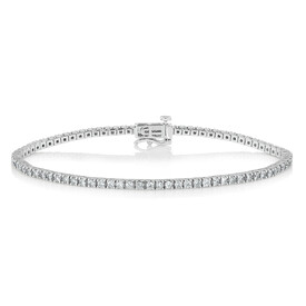 Tennis Bracelet with 2 Carat TW of Diamonds in 10ct White Gold
