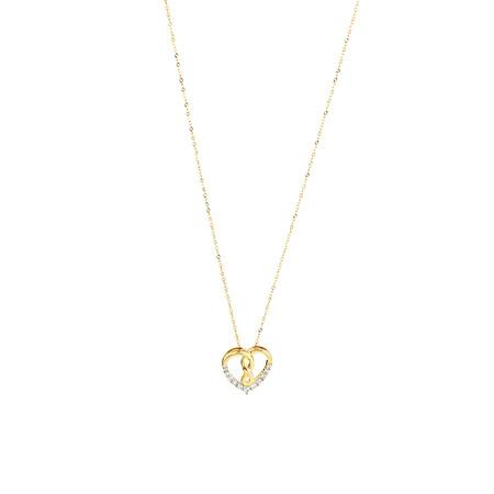 Infinitas Pendant with 0.15 Carat TW of Diamonds in 10ct Yellow Gold