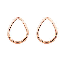 Open Pear Stud Earrings in 10ct Rose Gold