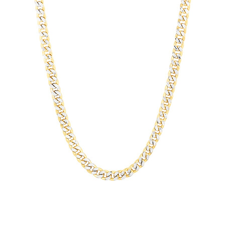 """55cm (22"""") Curb Chain in 10ct Yellow & White Gold"""