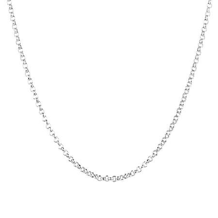 """40cm (16"""") Belcher Chain in Sterling Silver"""