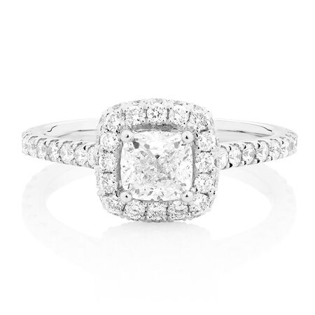 Sir Michael Hill Designer GrandAllegro Engagement Ring with 1.95 Carat TW of Diamonds in 14ct White Gold