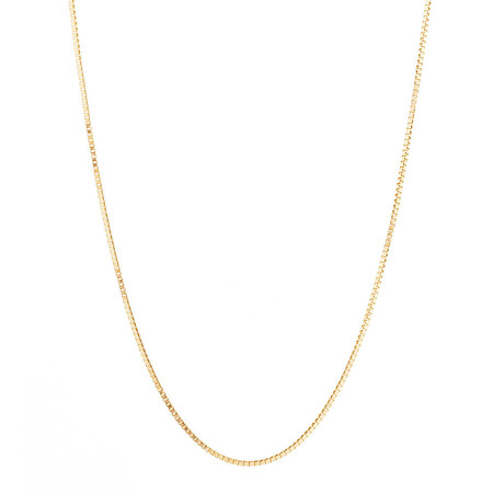 "40cm (16"") Diamond Cut Box Chain in 14ct Yellow Gold"