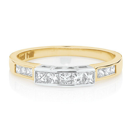 Online Exclusive - Ring with 0.45 Carat TW of Diamonds in 18ct Yellow and White Gold