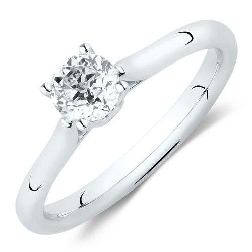 Southern Star Solitaire Engagement Ring with a 1/2 Carat TW Diamond in 14ct White Gold
