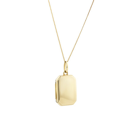 Octagonal Locket Pendant in 10ct Yellow Gold