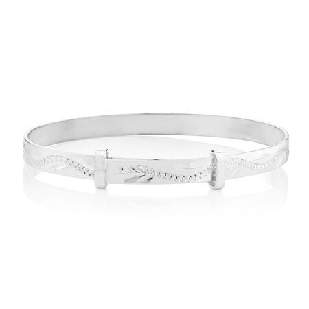 Expandable Baby Bangle in Sterling Silver