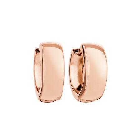 Huggie Earrings in 10ct Rose Gold